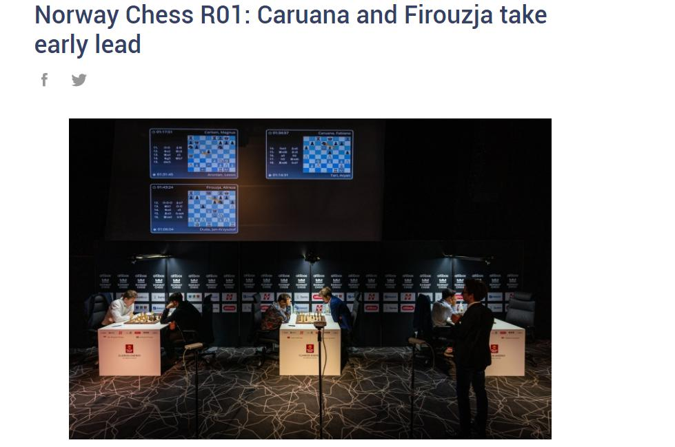 Photo of Norway Chess R01: <b>Caruana</b> and Firouzja take early lead