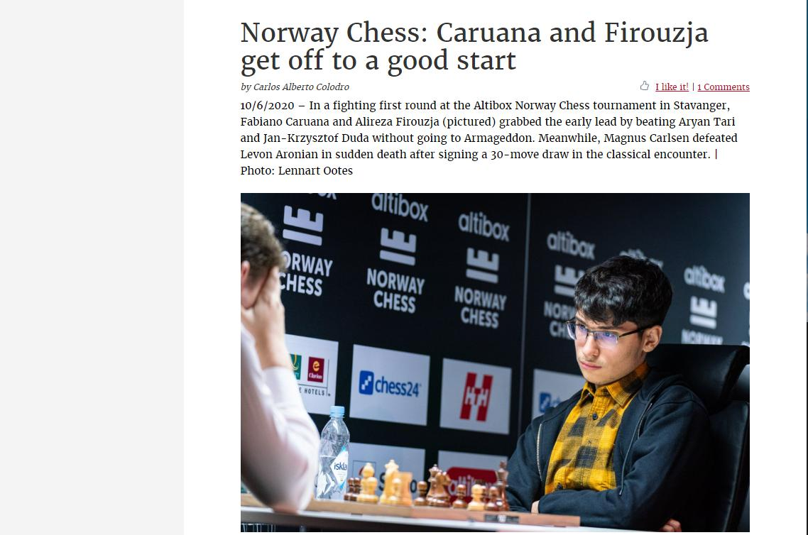 Photo of Norway Chess: <b>Caruana</b> and Firouzja get off to a good start