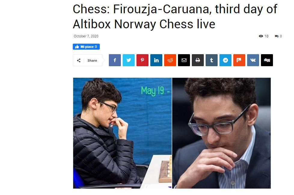 Photo of Chess: Firouzja-<b>Caruana</b>, third day of Altibox Norway Chess live