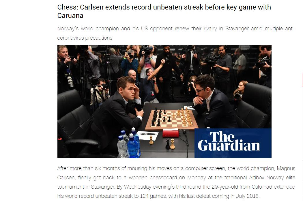 Photo of Chess: Carlsen extends record unbeaten streak before key game with <b>Caruana</b>