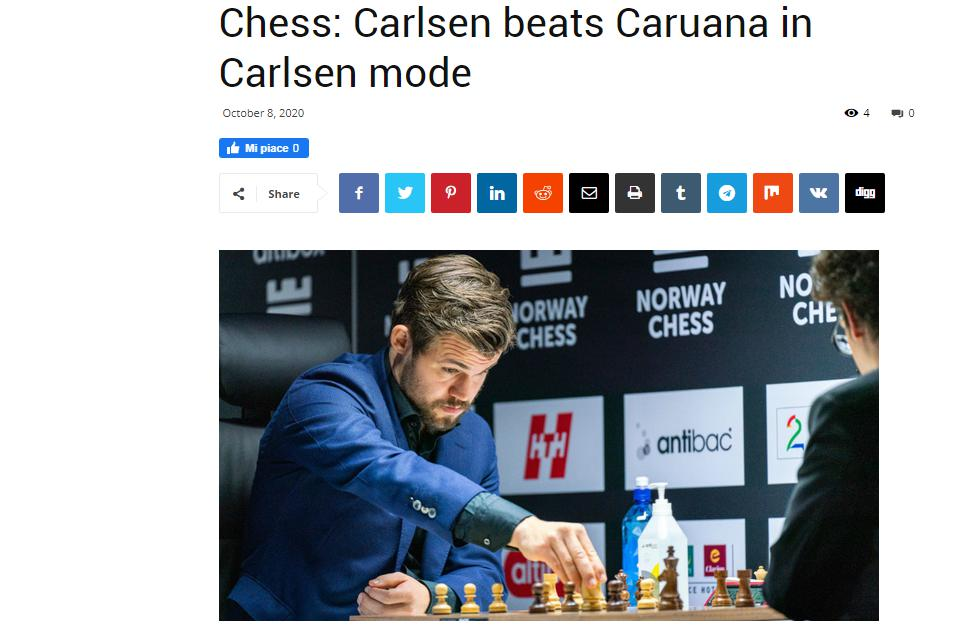 Photo of Chess: Carlsen beats <b>Caruana</b> in Carlsen mode
