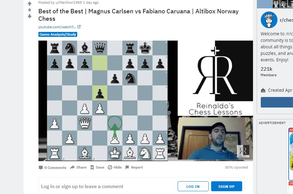 Photo of Magnus Carlsen vs <b>Fabiano Caruana</b> | Altibox Norway Chess