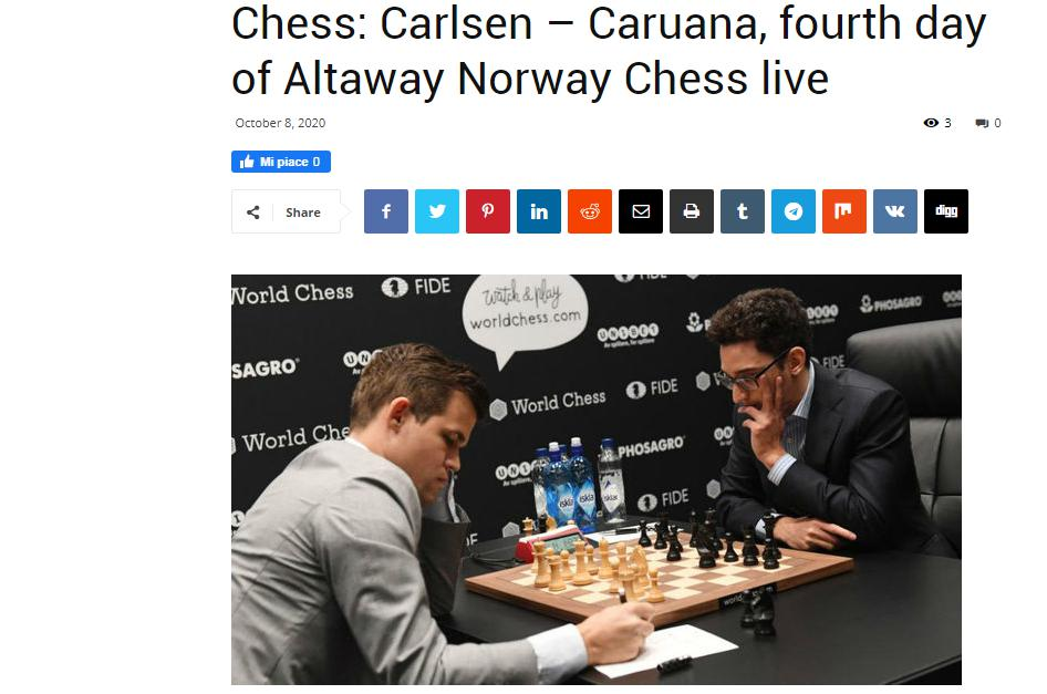 Photo of Chess: Carlsen =E2=80=93 Caruana, fourth day of Altaway Norway Chess live