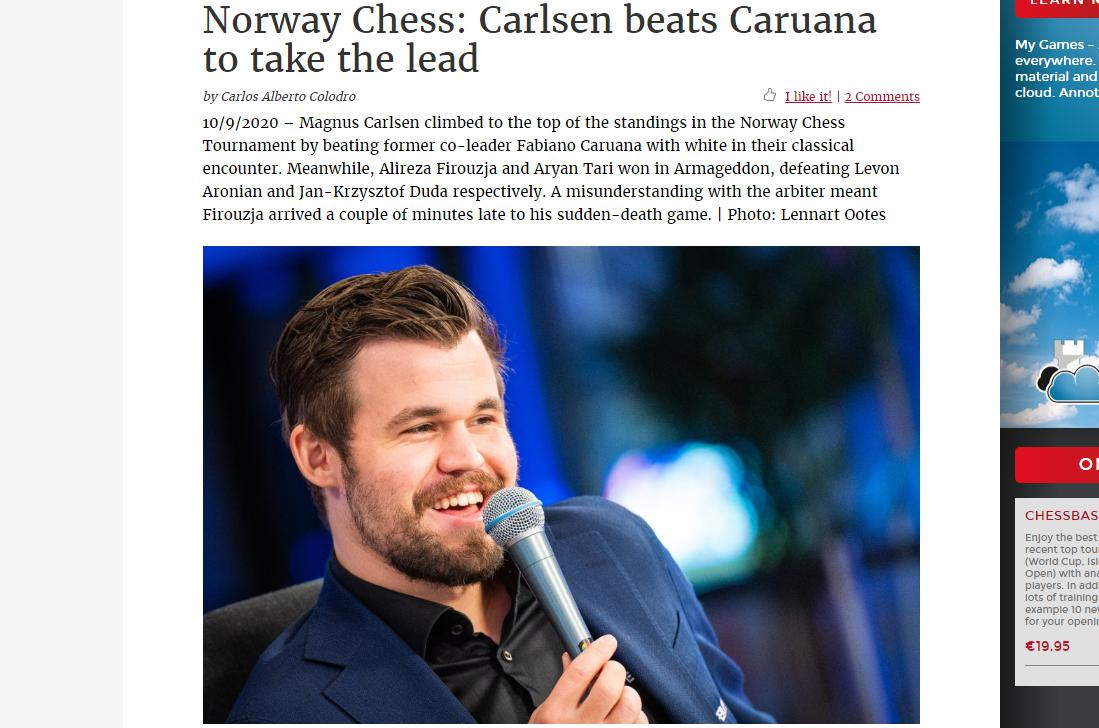 Photo of Norway Chess: Carlsen beats <b>Caruana</b> to take the lead